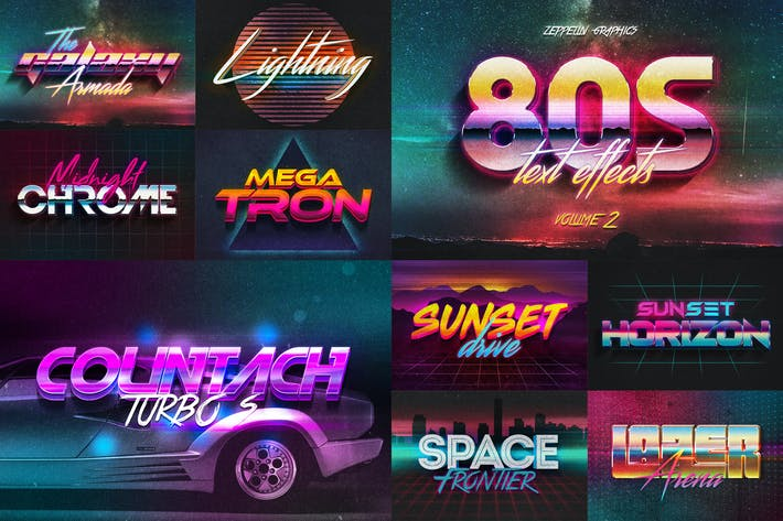 Thumbnail for 80s Text Effects Vol.2