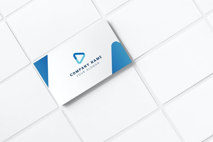 Cover Image For Professional Blue Business Card Template
