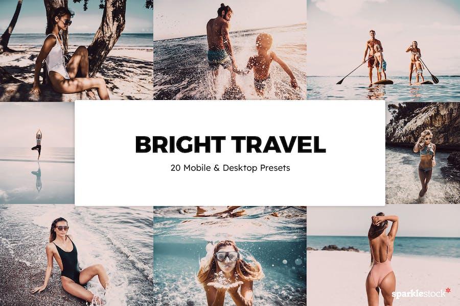 20 Bright Travel Lightroom Presets & LUTs