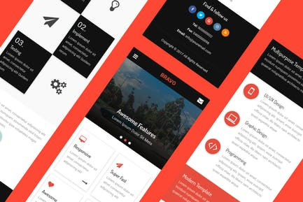 Bravo - HTML Mobile Template