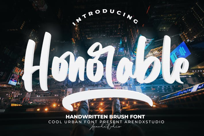 Thumbnail for Honorable - Fuente de pincel escrito a mano
