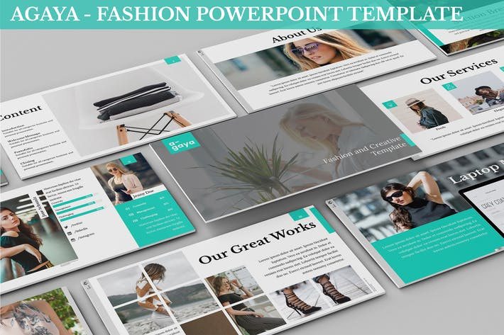 Cover Image For A-Gaya - Fashion Powerpoint Template