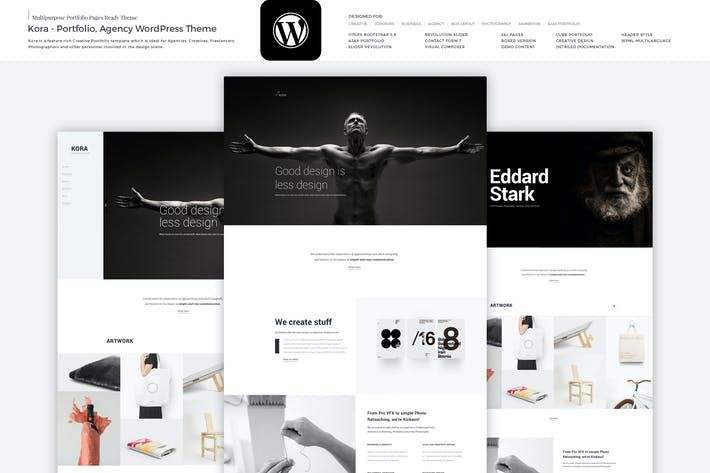 Thumbnail for Kora - Portfolio, Agency WordPress Theme