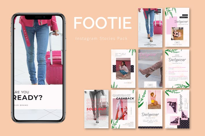 Thumbnail for Footie - Instagram Template Pack