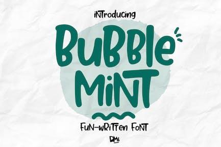 Bubble Mint - Fun written Font