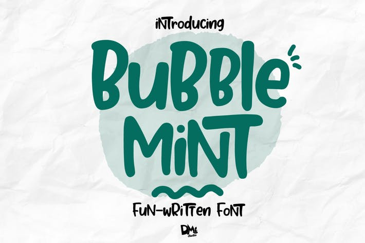 Thumbnail for Bubble Mint - Fun written Font