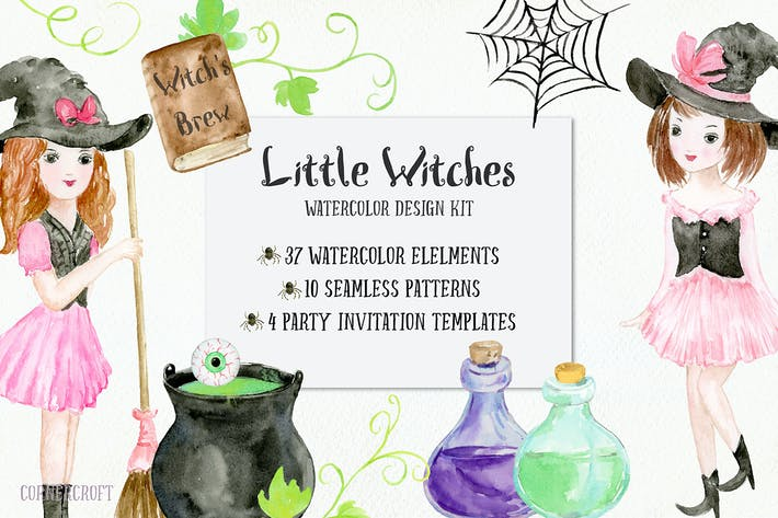 Thumbnail for Little Witches Design Kit Watercolor