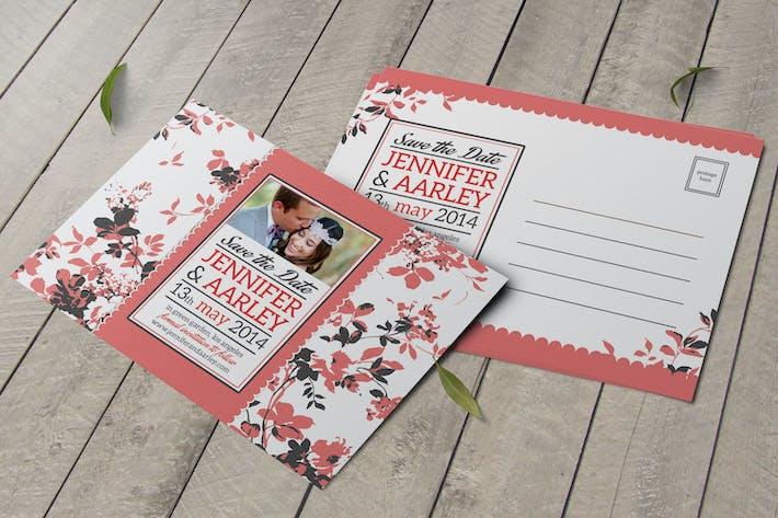 Thumbnail for Shabby Chic Wedding Invitation Post Card