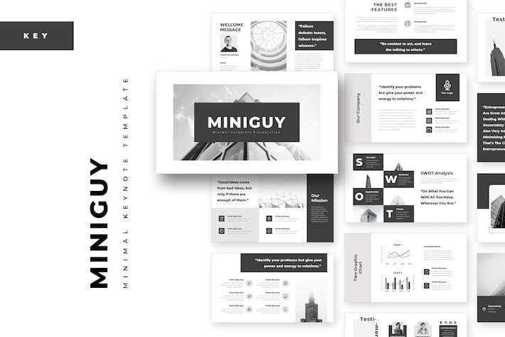 Thumbnail for MiniGuy Minimal Keynote Template