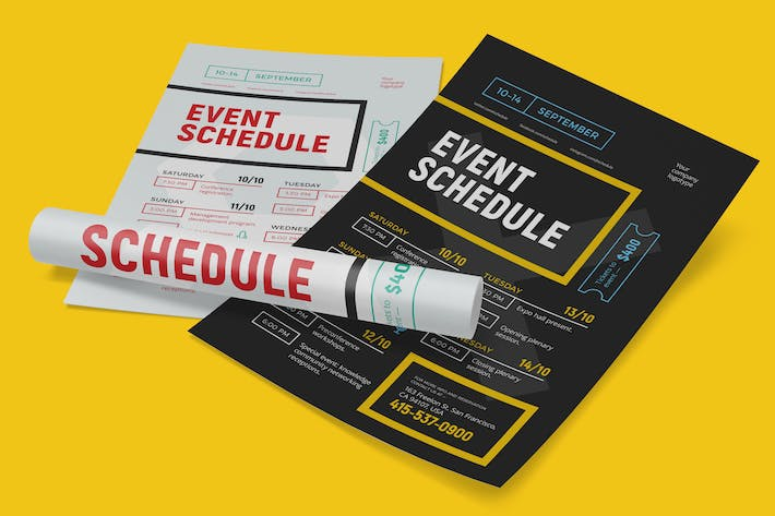 Thumbnail for Schedule event poster template