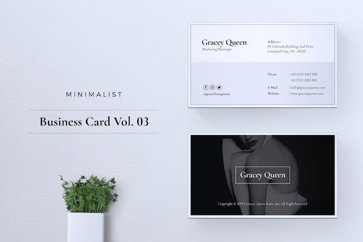 Thumbnail for Minimalist Business Card Vol. 03