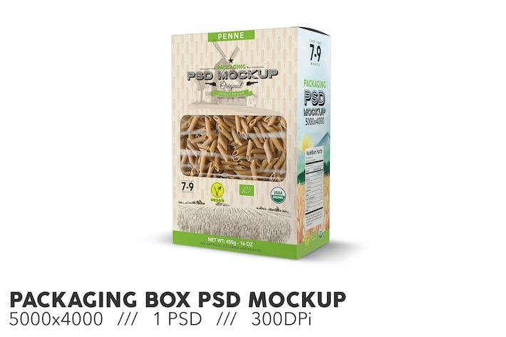 Boîte d'emballage PSD Mockup