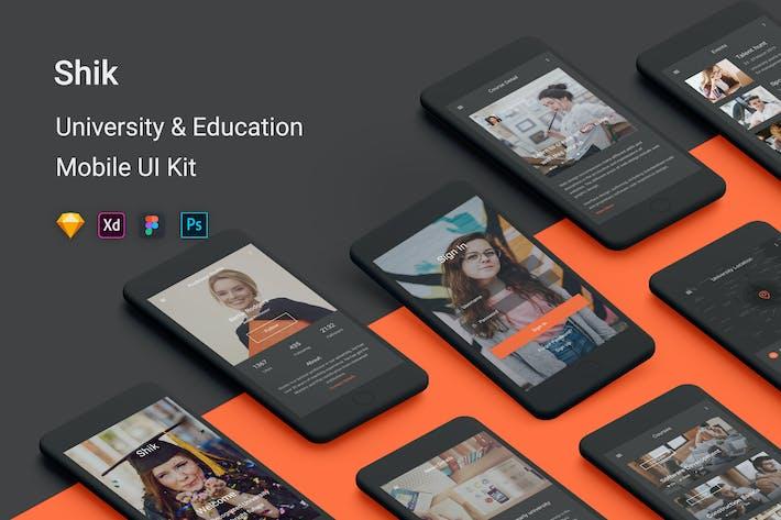 Thumbnail for Shik - University & Education UI Kit