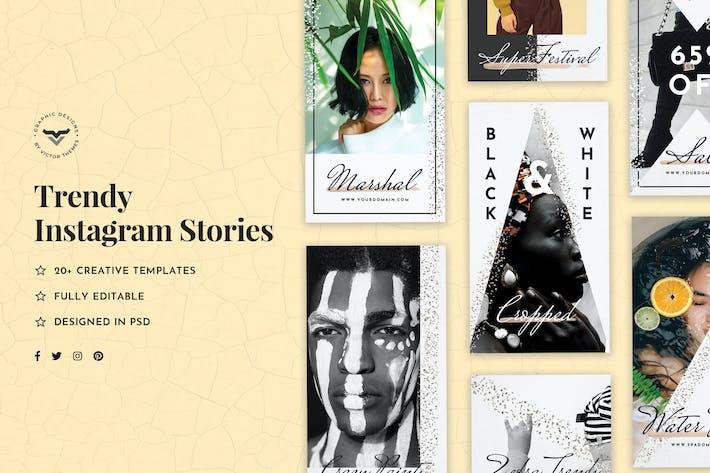 Thumbnail for Trendy Instagram Stories Template
