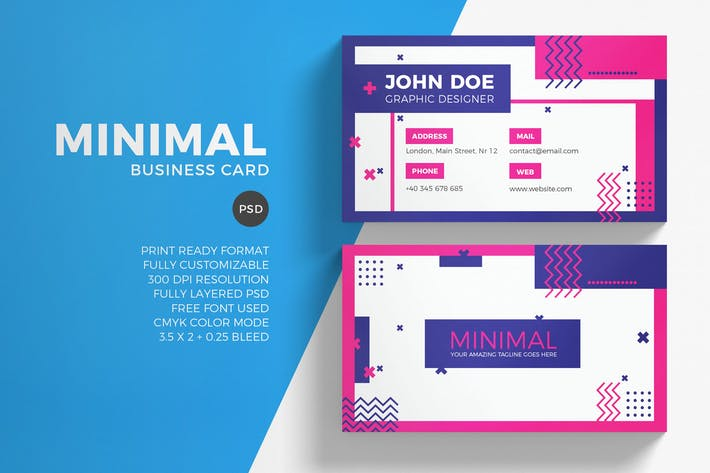 Cover Image For Minimal business card template