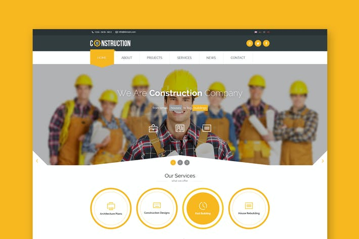 Thumbnail for Construction - Industrial HTML5 Template