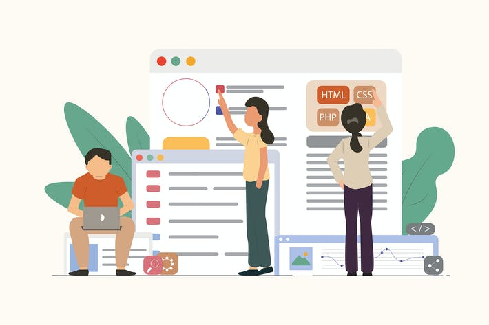 Thumbnail for Веб-разработка - Вектор иллюстрация