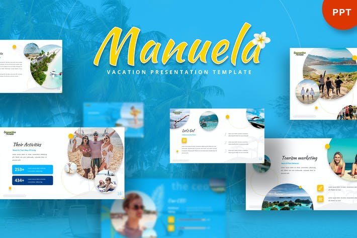 Thumbnail for Manuela - Vacation Powerpoint Template