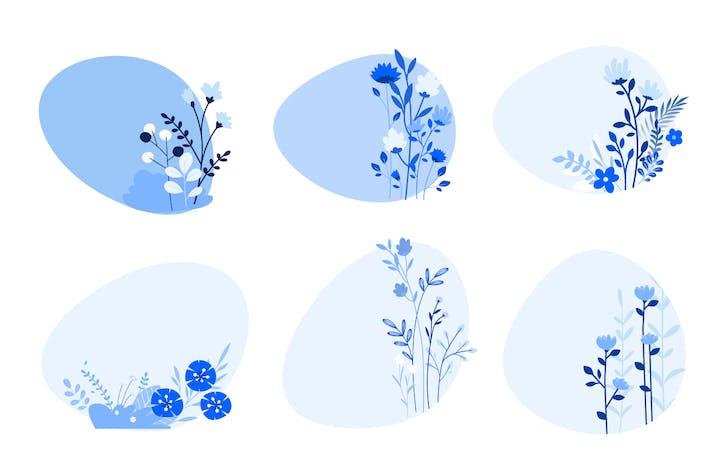 Thumbnail for Современная плоская природа дизайна и цветочные элементы