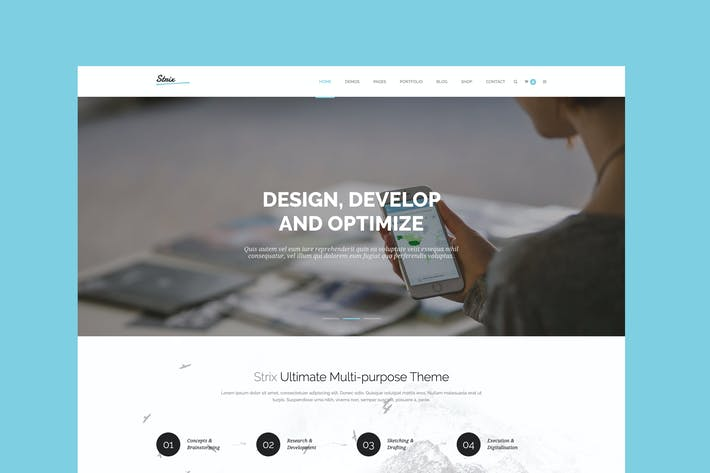 Thumbnail for Strix - Multipurpose HTML5 Template
