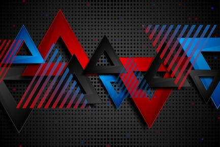Abstract concept triangles tech geometry backdrop