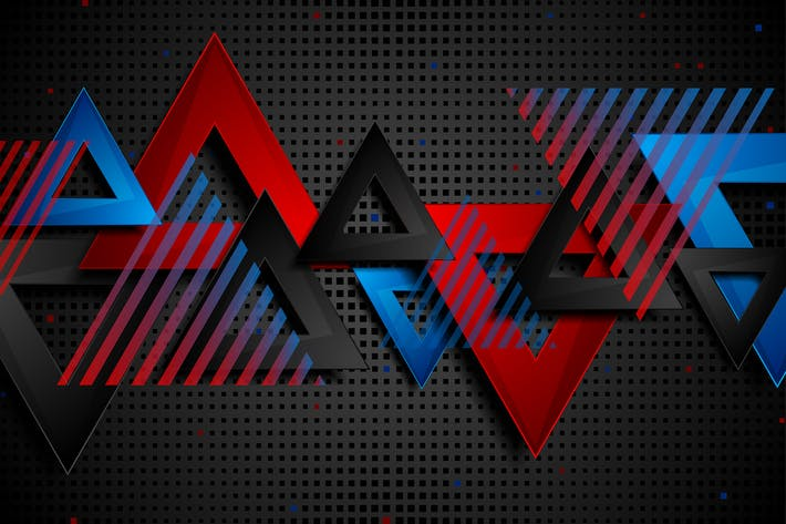 Thumbnail for Abstract concept triangles tech geometry backdrop