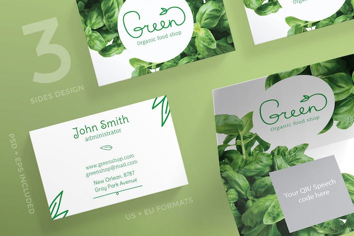 Organic food business card template by ambergraphics on envato elements cover image for organic food business card template wajeb Gallery
