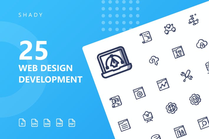 Thumbnail for Web Design Development Shady Icons