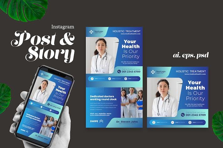 Thumbnail for Медицинское здоровье Instagram Пост История