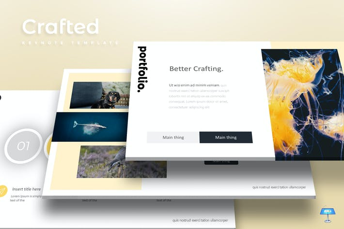 Thumbnail for Crafted - Keynote Template
