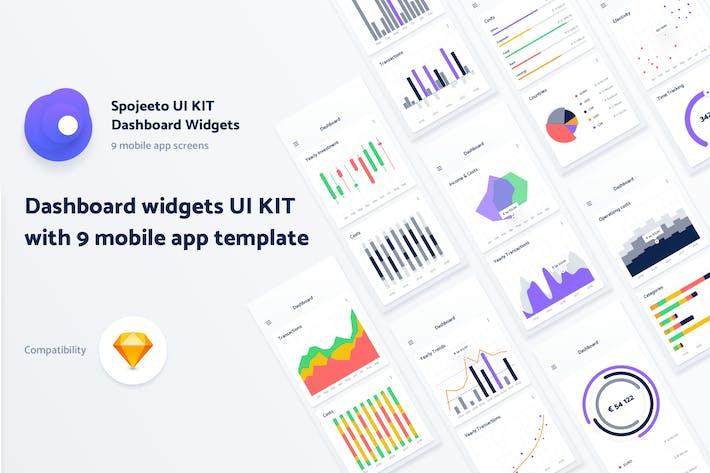 Thumbnail for Spojeeto Mobile Dashboard Widgets UI KIT