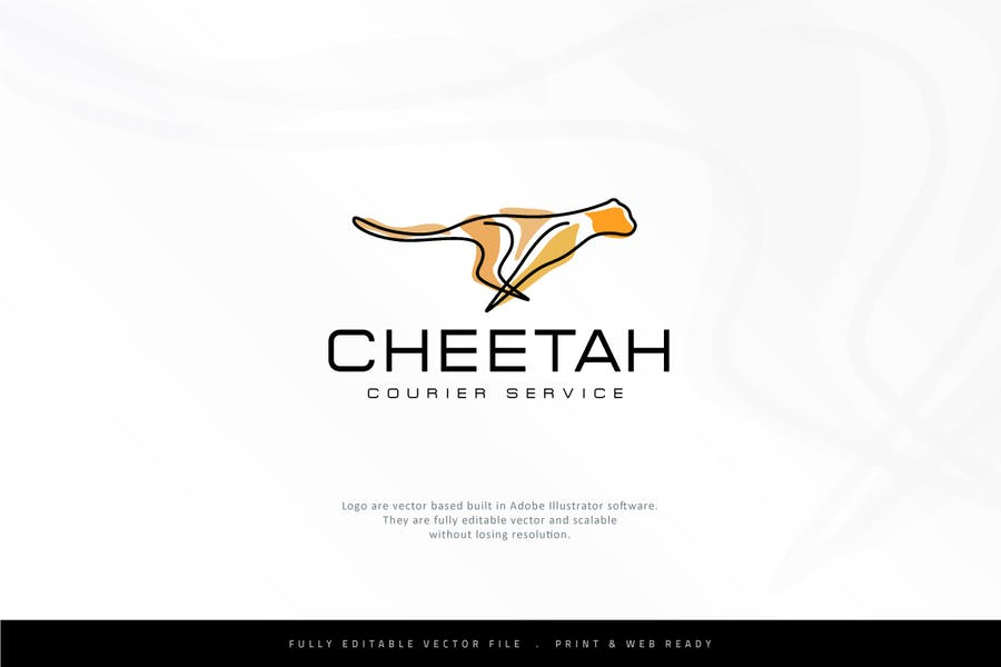 Abstract Cheetah Logo