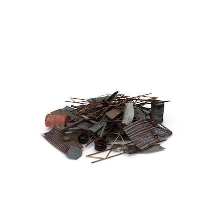 Haufen von Metallabfällen