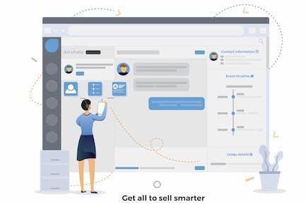 Smarter CRM Illustration verkaufen