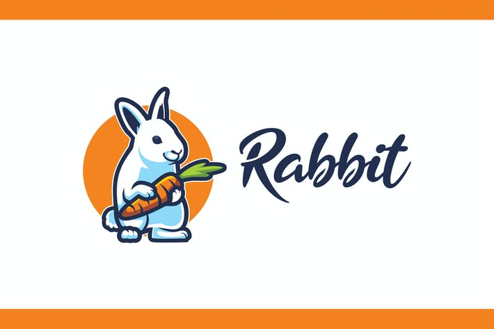 Thumbnail for Cartoon Rabbit Mascot Logo