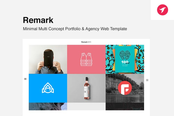 Thumbnail for Remark - Multi Concept Portfolio & Agency Template