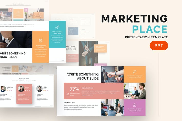 Thumbnail for Market Place - Powerpoint Template