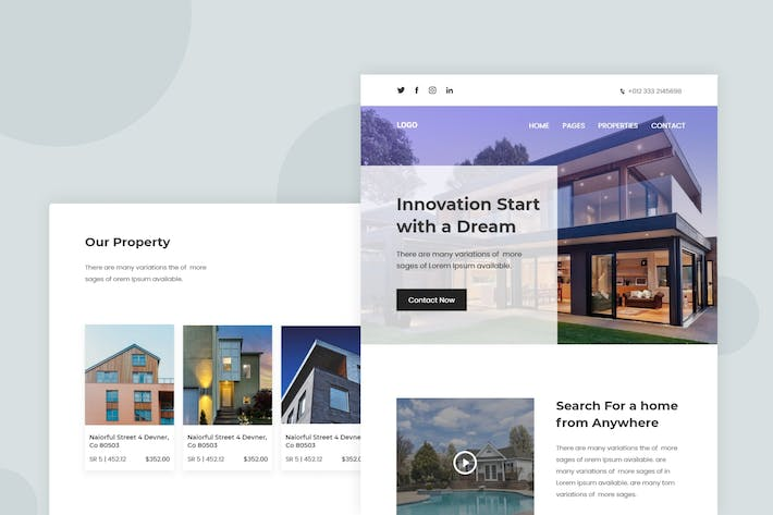 Thumbnail for Property & Apartment - Email Newsletter