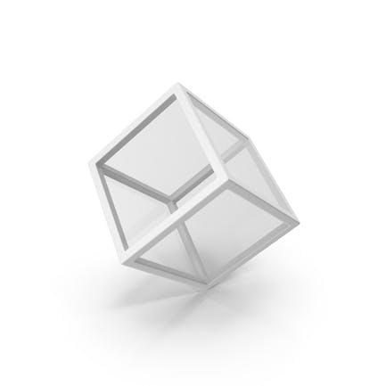 Glass Cube White