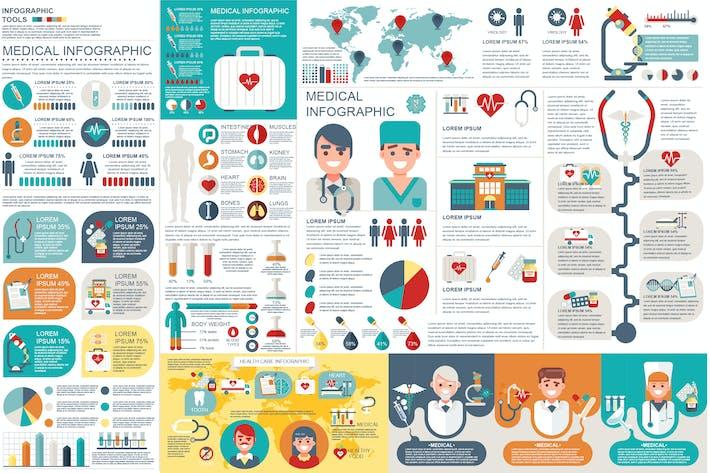medical infographic elements by alexdndz on envato elements