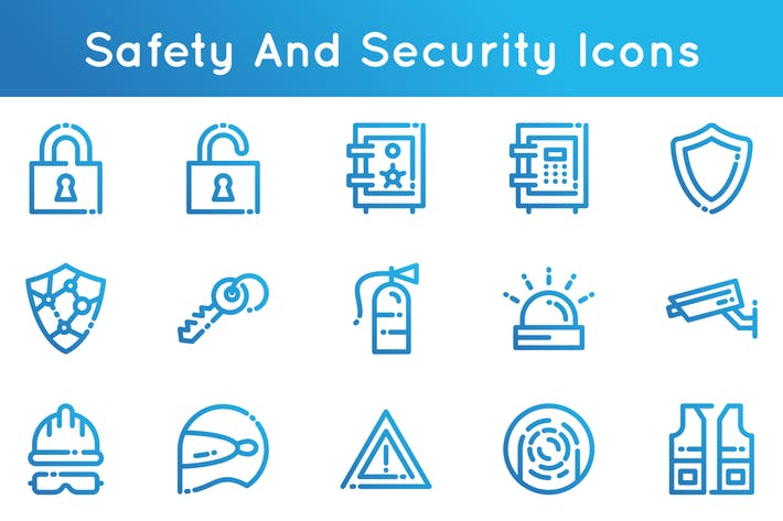 Thumbnail for Safety And Security Icons