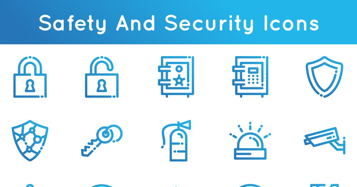 Download Safety And Security Icons by 3ab2ou