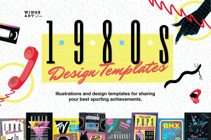 Thumbnail for 1980s Poster Templates