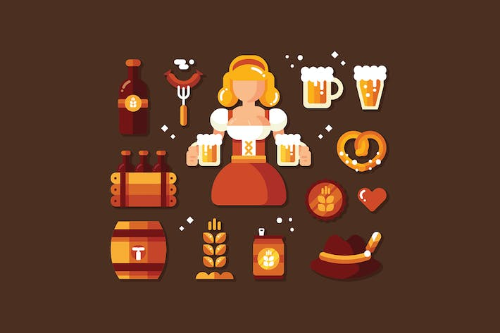 Thumbnail for Oktoberfest Icon set