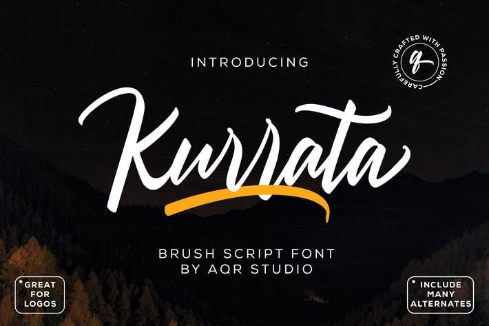 Thumbnail for Kurrata Script Fonts