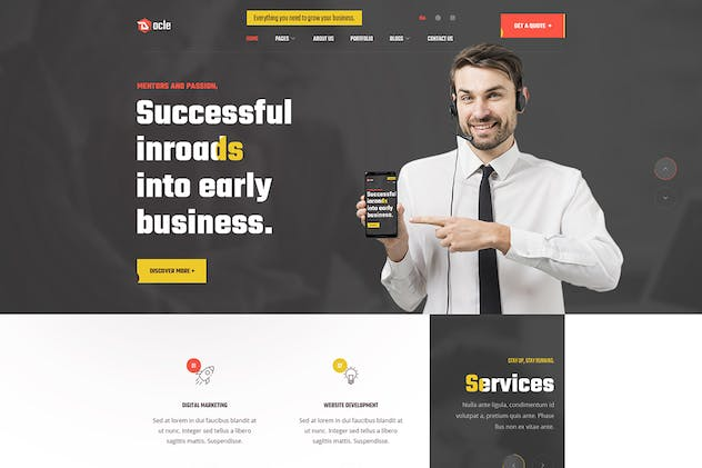 Docle - Digital Agency Services PSD Template