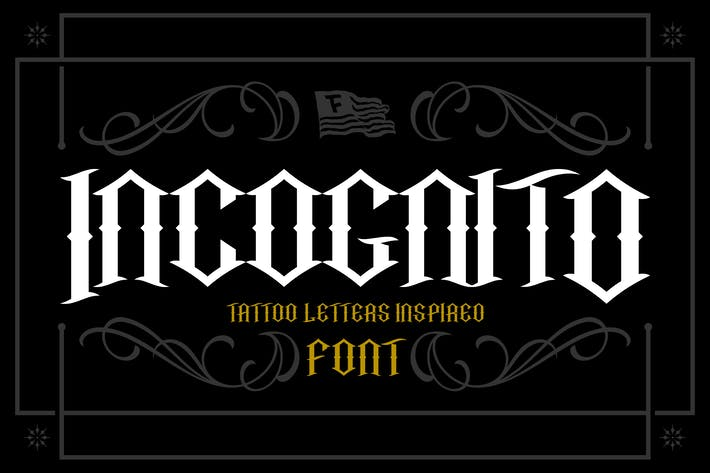 Thumbnail for Incognito Tattoo Font