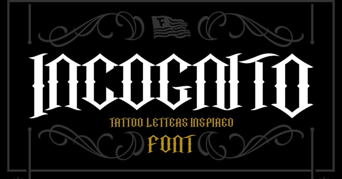Download Incognito Tattoo Font by twicolabs
