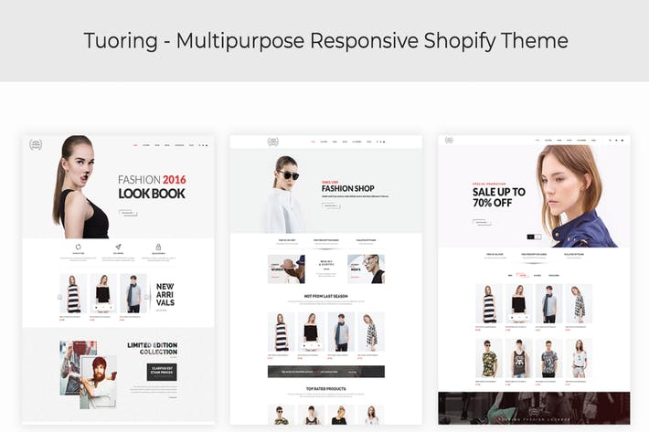 Thumbnail for Tuoring - Responsive Fashion, Tee, Clothing Shopif