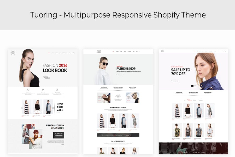 Tuoring - Responsive Fashion, Tee, Clothing Shopif - product preview 0